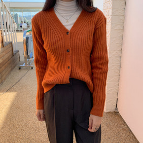 very soft cardigan_orange